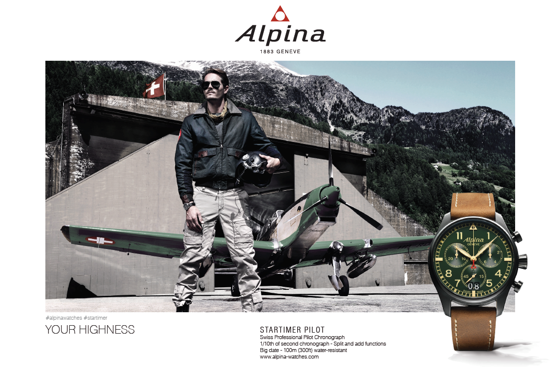 Montre Alpina aviateur