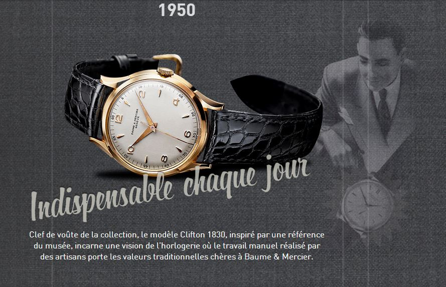 Collection Clifton de Baume & Mercier