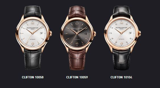 Collection Clifton Red Gold de Baume & Mercier