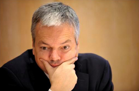 Didier Reynders et sa campagne pour Philip Stein