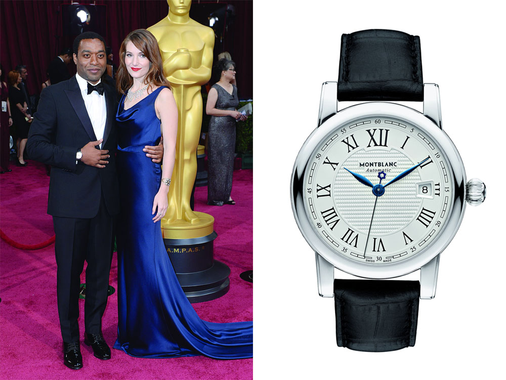Chiwetel Ejiofor et sa montre Montblanc Star Roman Date Automatic