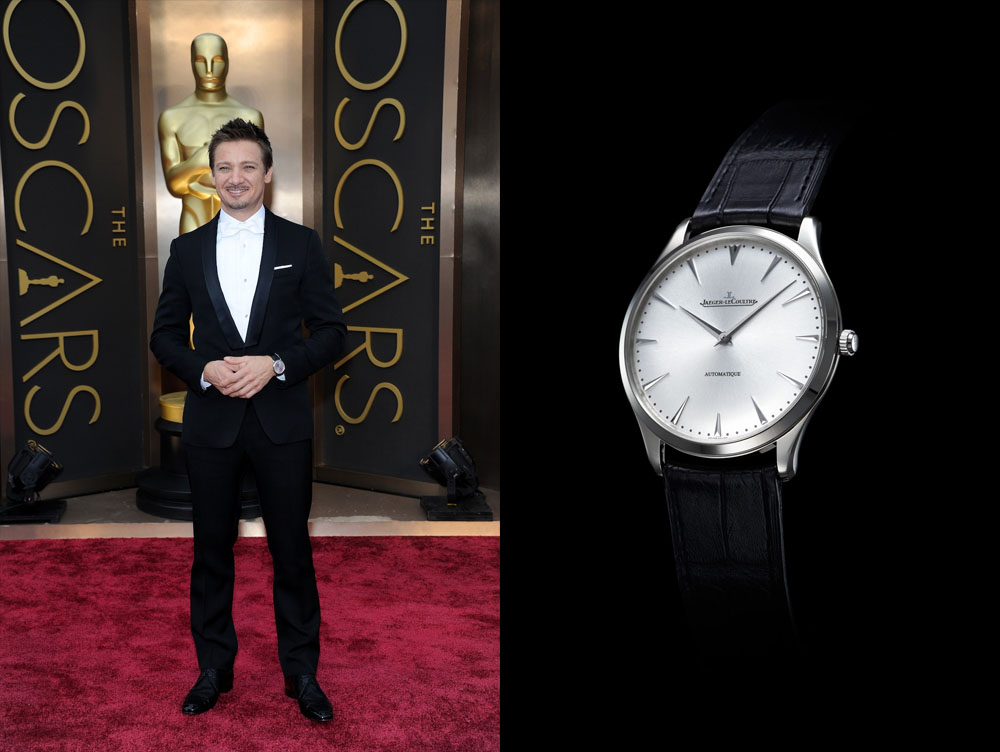 Jeremy Renner et sa montre Jaeger-LeCoultre Master Ultra Thin 41