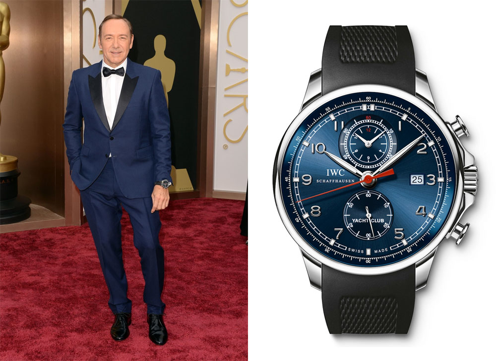 "Kevin Spacey et sa montre IWC Portuguese Yacht Club Chronograph Edition ""Laureus Sport For Good Foundation"