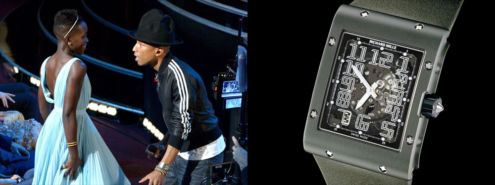 Pharrell Williams et sa montre Richard Mille RM 016