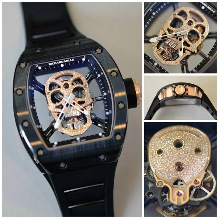 la skull nano de richard mille se pare de diamants. Black Bedroom Furniture Sets. Home Design Ideas