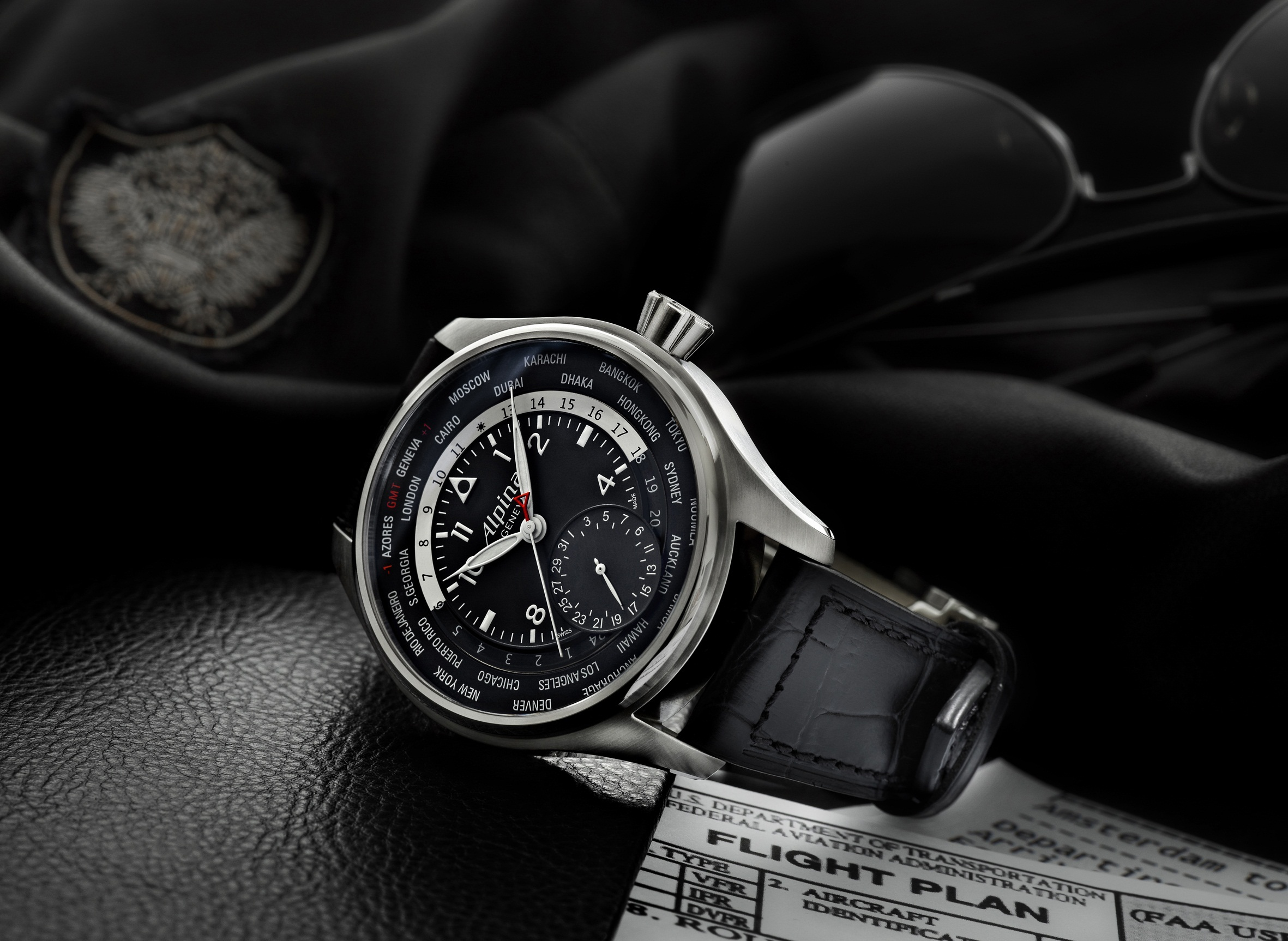 Montre Alpina Startimer Pilot World Timer Manufacture