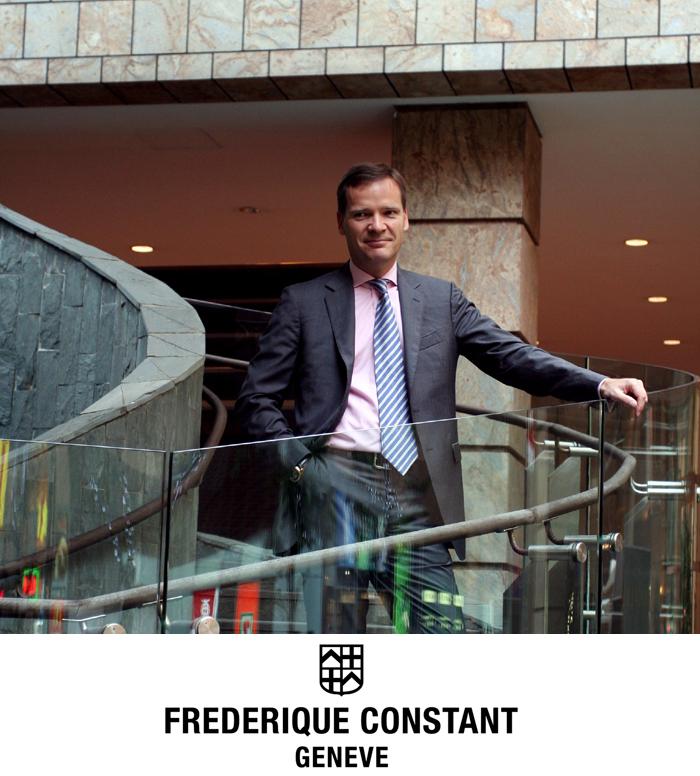 Portrait de Peter Stas des montres Frederique Constant