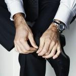 Roger Federer, montre Rolex Daytona au poignet