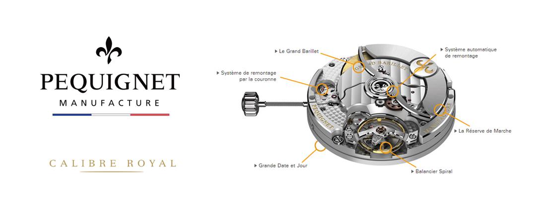 Calibre Royal de la manufacture française Pequignet