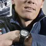 "Aurélien DUCROZ, montre Alpiner 4 chronographe ""Race for Water"" au poignet"