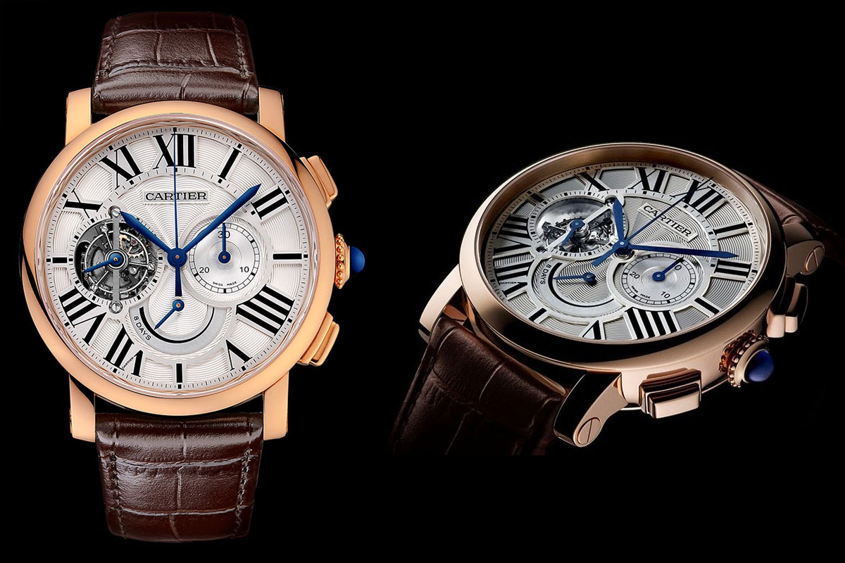 Cartier Tourbillon chronographe 8 jours de réserve de marche
