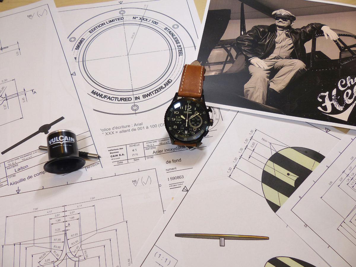 Vulcain Aviator Instrument Chronograph DLC