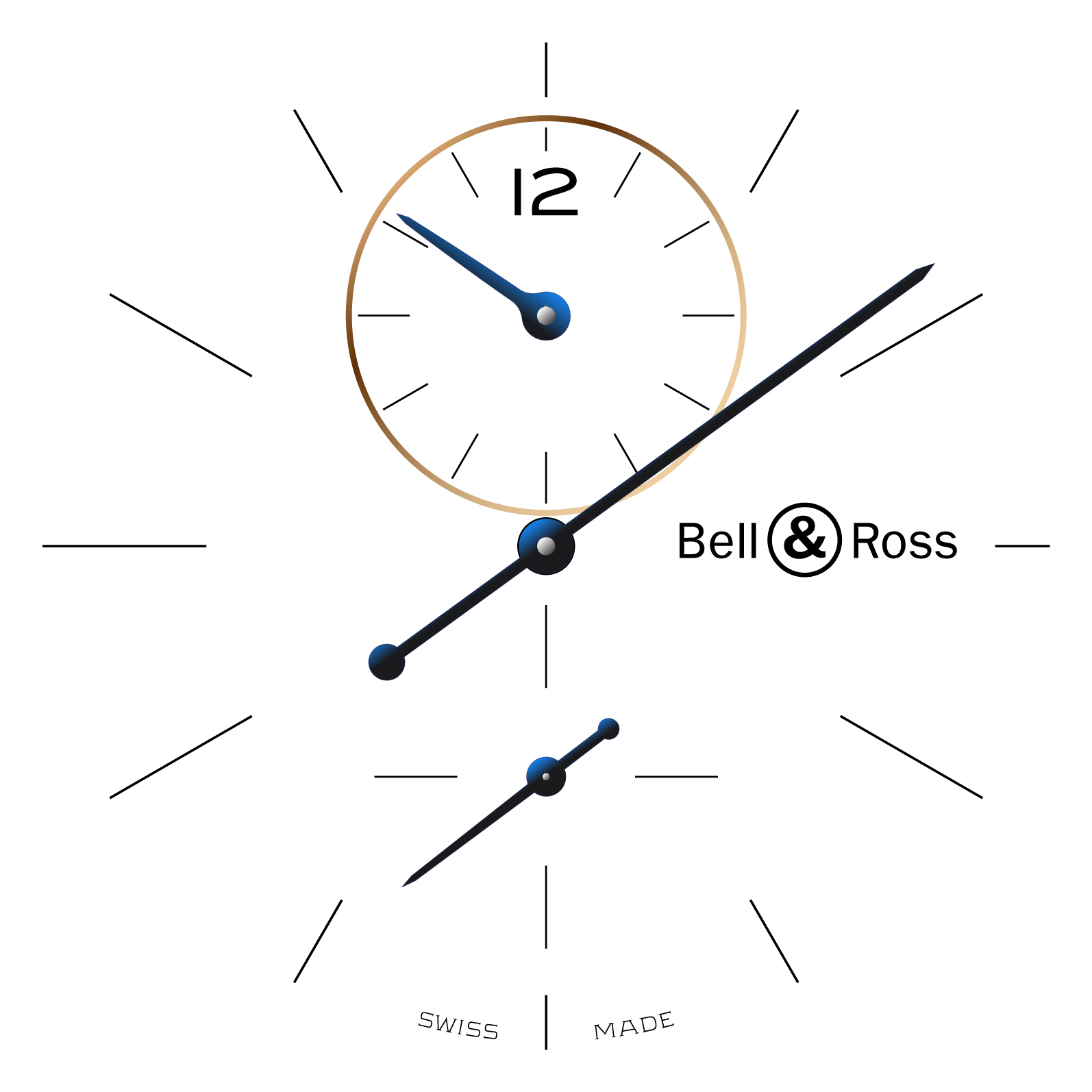 Bell & Ross WW1 Régulateur en or rose