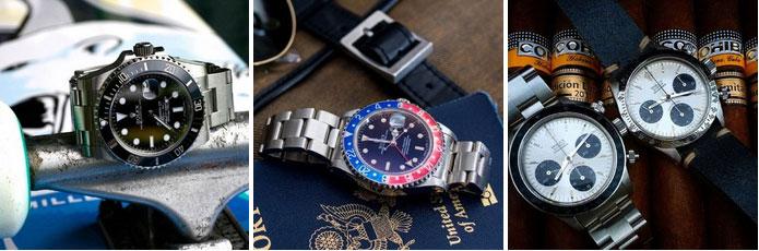 Montres Rolex : Submariner, GMT Master et Daytona