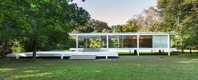Maison Farnsworth par Mies van der Rohe