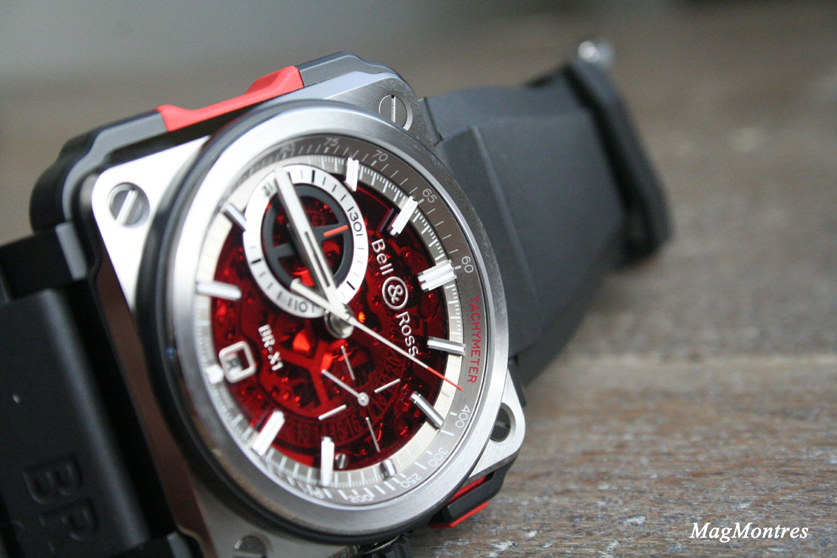 Bell & Ross BR-X1-Skeleton Chronograph Red Edition