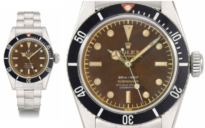 Rolex Submariner en acier réf 6538 - Prix : 544 939 $