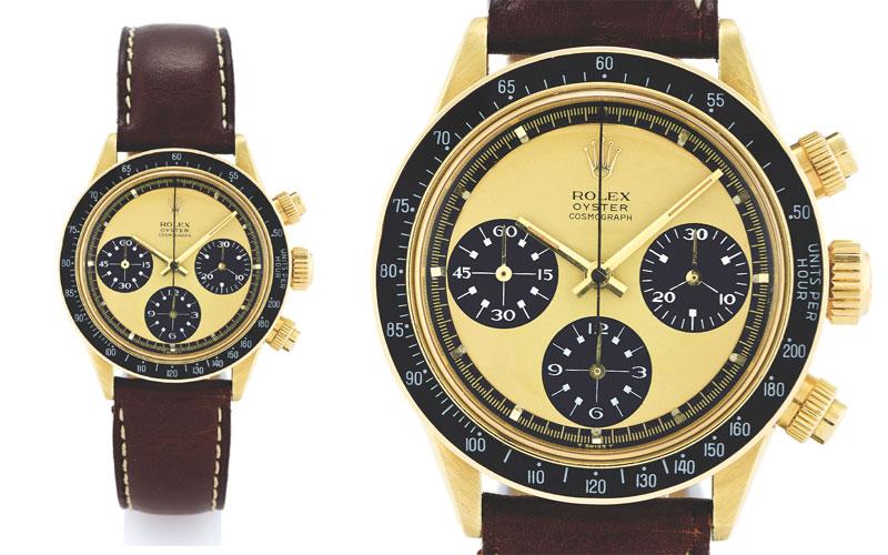 "Rolex Daytona ""Paul Newman"" en or jaune 18 carats réf 6263 - Prix : 878 317 $"