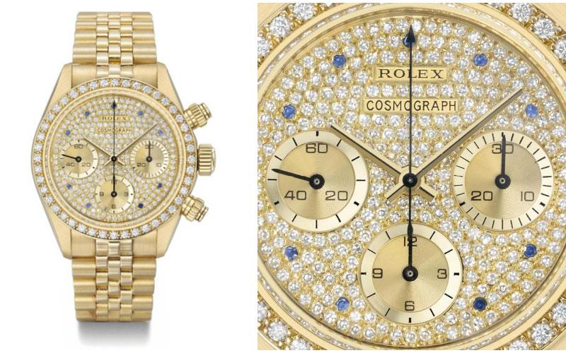 Rolex Daytona Réf 6269 en or jaune, diamants et saphirs - Prix : 507 700 $