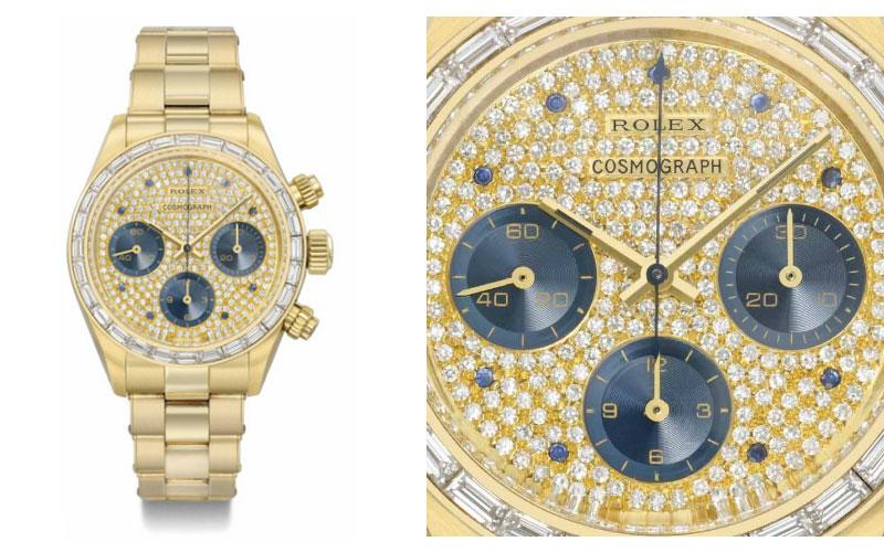 Rolex en or jaune réf 6270/6263 - Prix : 1 024 654 $