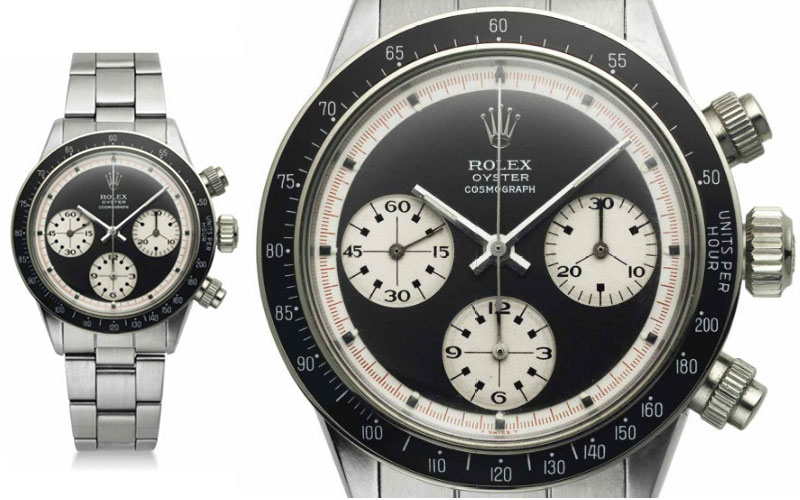 "Rolex Daytona en acier ""Paul Newman"" réf 6263 - Prix : 479 705"