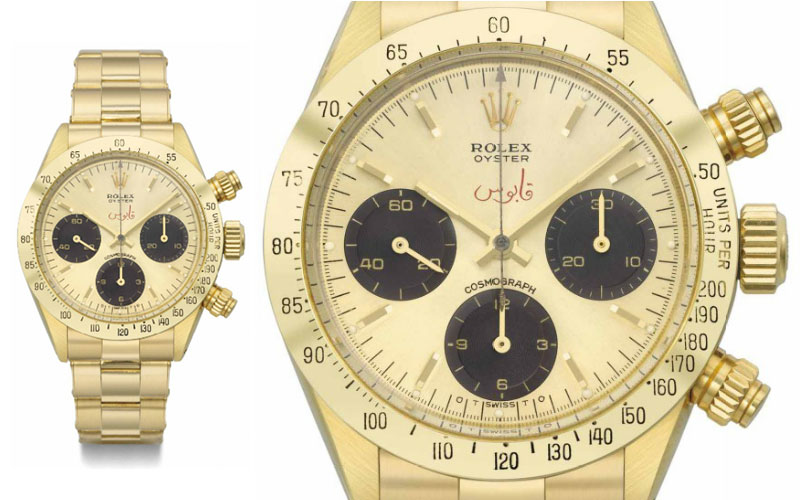 Rolex Oyster Cosmograph Daytona in 18k yellow gold ref 6265 - Price: $ 549,124