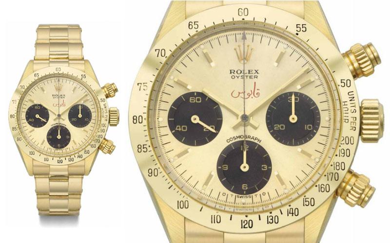 Rolex Oyster Cosmograph Daytona en or jaune 18 carats réf 6265 - Prix : 549 124 $