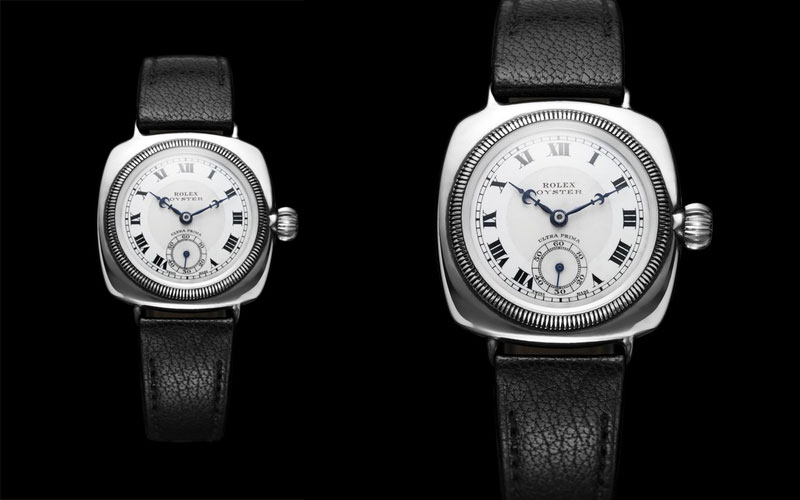 1926 : Première Rolex Oyster, forme coussin