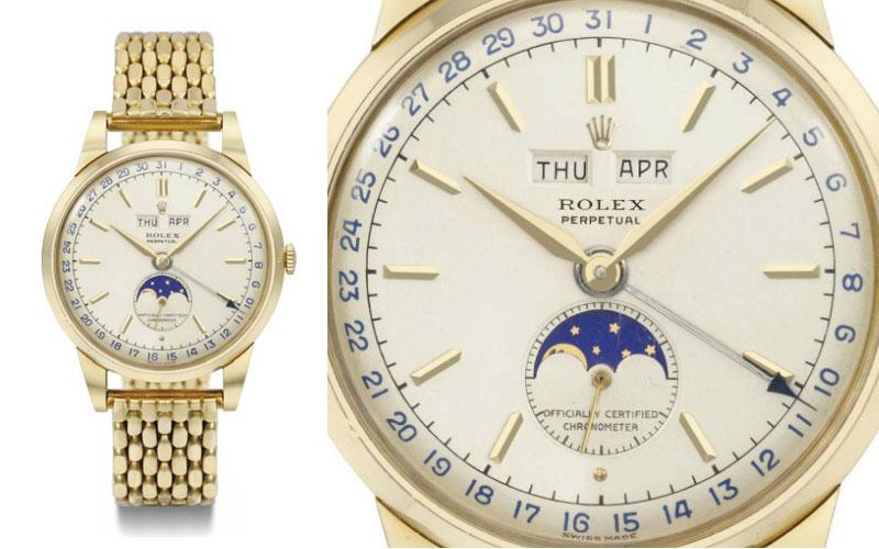 Rolex Triple Calendar en or jaune 18 carats, réf 8171 - Prix : 684 626 $