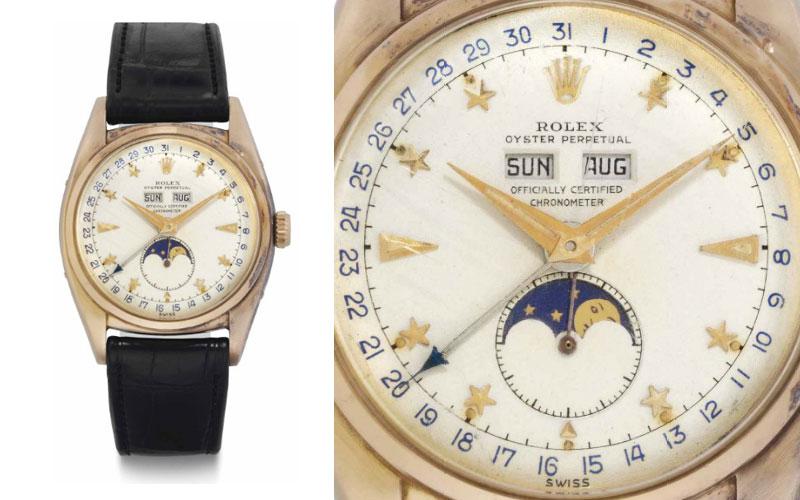 Rolex triple calendrier en or rose réf 6062 - Prix : 590 500 $