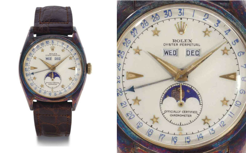Rolex triple calendrier en or 18 carats réf 6062 - Prix : 542 500 $