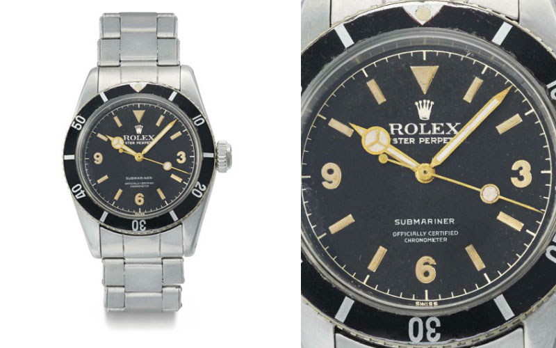 Rolex Oyster Perpetual Submariner réf 6200 - Prix : 527 891 $