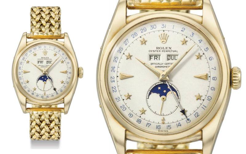 Rolex Oyster Perpetual en or jaune 18 carats triple calendrier réf 6062 - Prix : 501 769 $