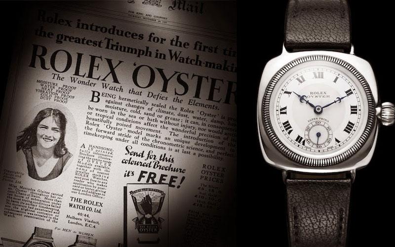 La première montre-bracelet étanche est signée Rolex