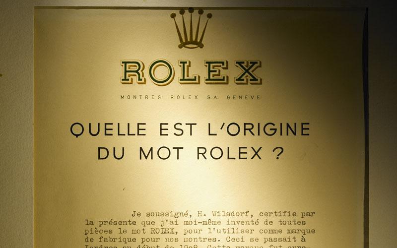 Rolex, un mot qui ne veut rien dire