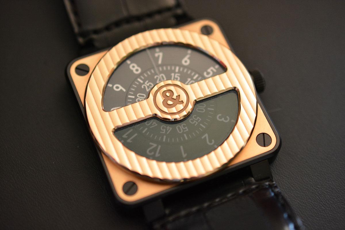 BR01-92 Compass Ltd RoseGold & Carbon