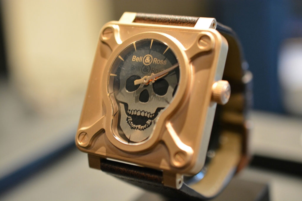BR01 Ltd Skull Bronze - Baselworld 2015 | Copyright Maverick