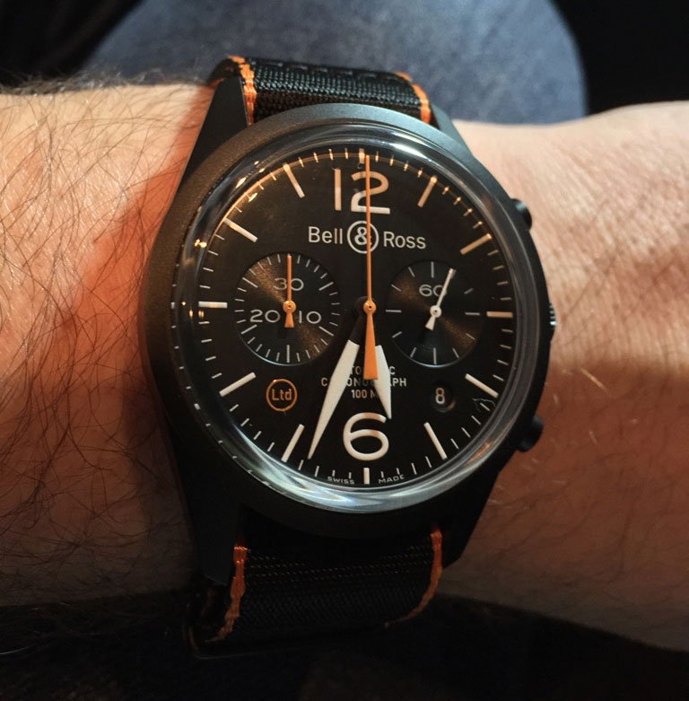 Vintage BR126 Ltd Carbon Orange - Baselworld 2015 | Copyright Chrismonaco