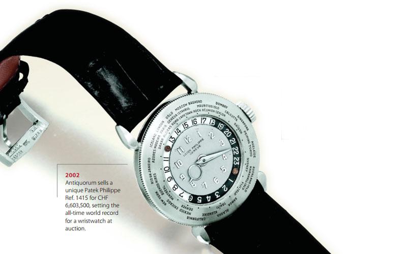 Patek Philippe World Time Ref. 1415 - Classement des Patek Philippe les plus chère au monde
