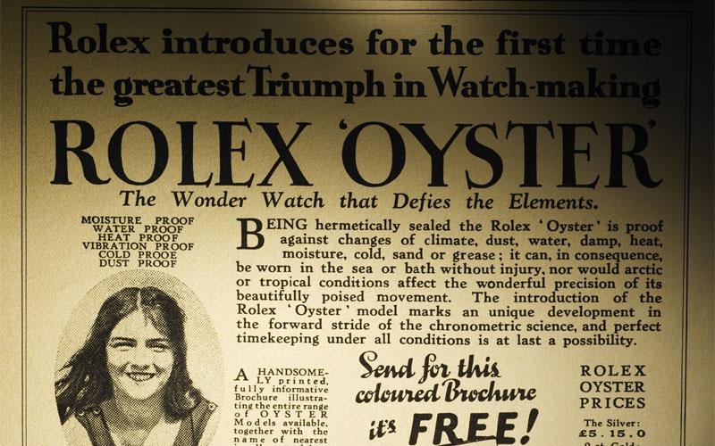 En 1926, Rolex invente la Rolex Oyster