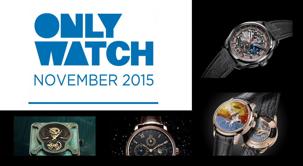 Les montres Only Watch 2015