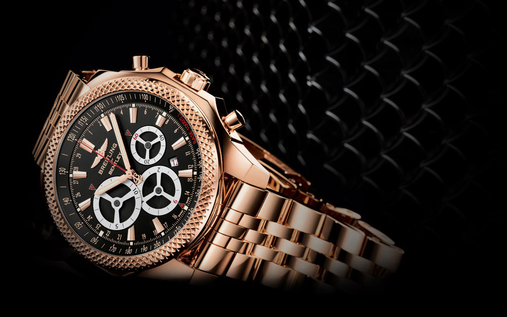 Breitling Bentley Barnato Racing en or rouge