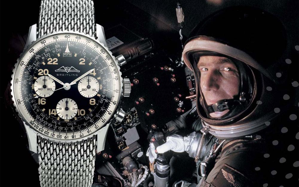 La Breitling Navitimer dans l'espace au poignet de Scott Carpenter
