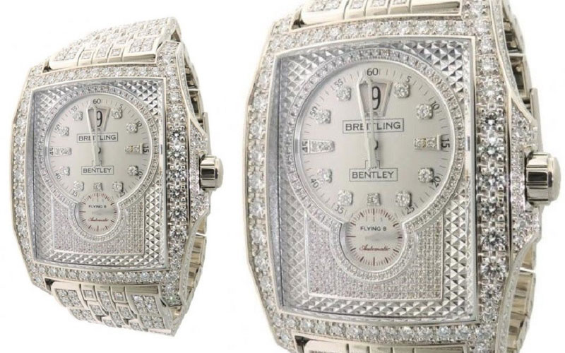 Breitling Bentley Flying B J28362 en or blanc et diamants