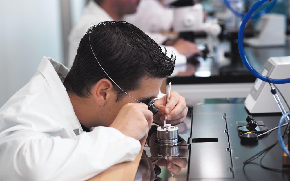 La manufacture Breitling produit 150 000 montres par an