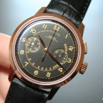 Vulcain 50s Presidents' Chronograph Héritage en or rose - Réf : 570557.315L/BK