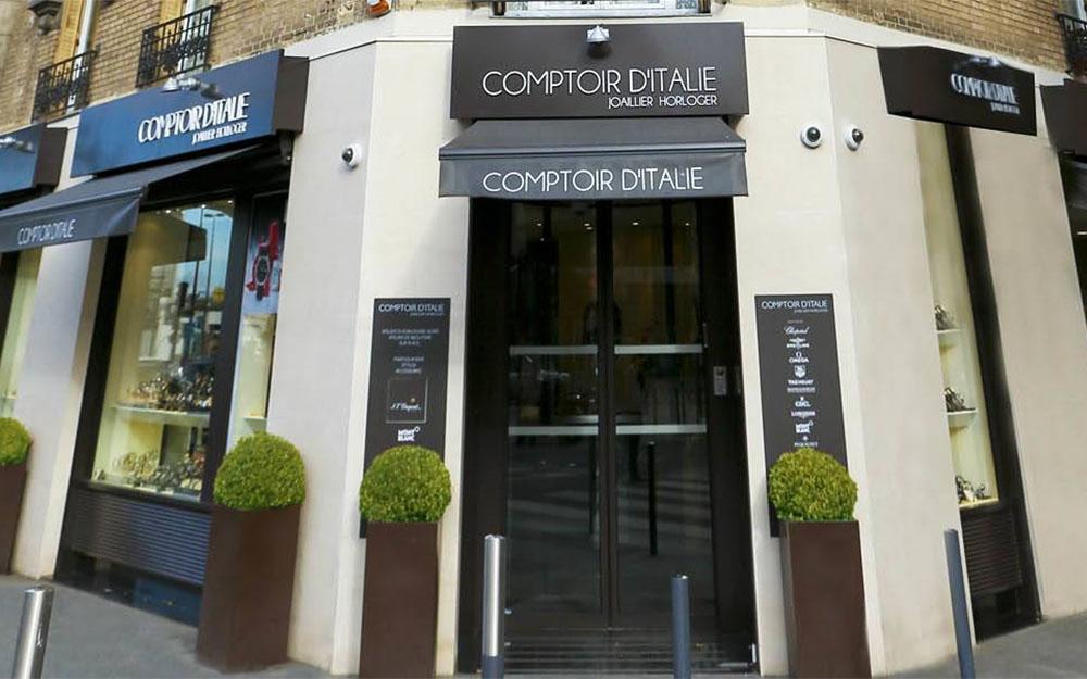 Comptoir d'Italie: online store for luxury watches in Paris