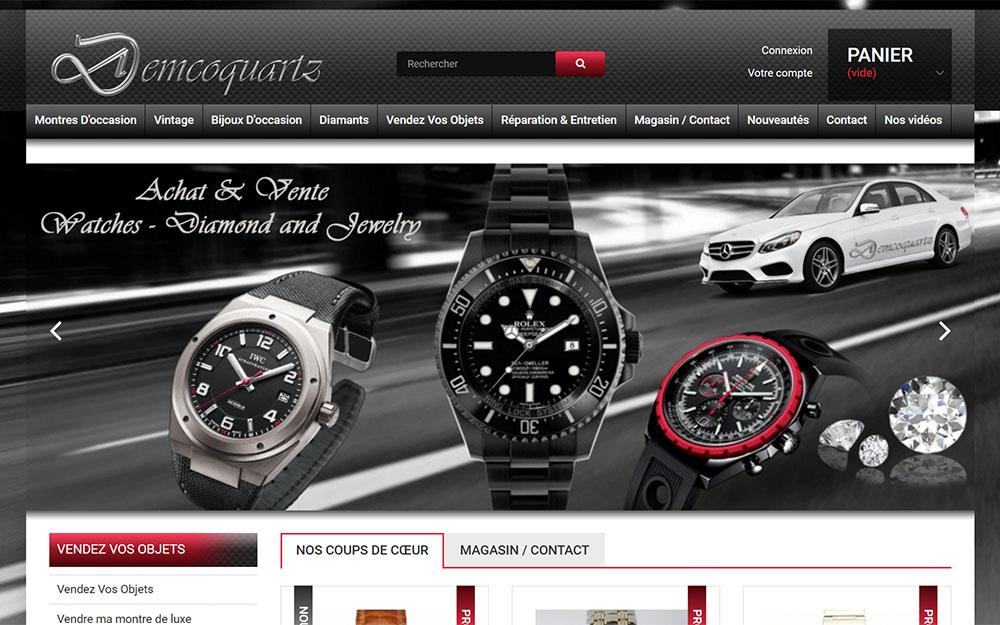 Demcoquartz: vintage luxury watch shop in Brussels