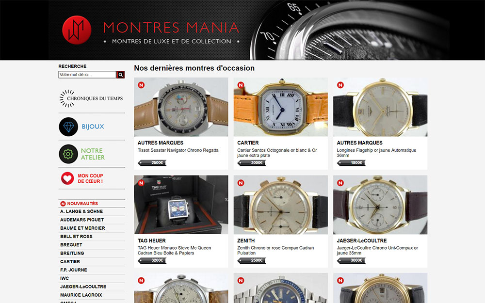 Mania watches: high-end second-hand watches in Paris