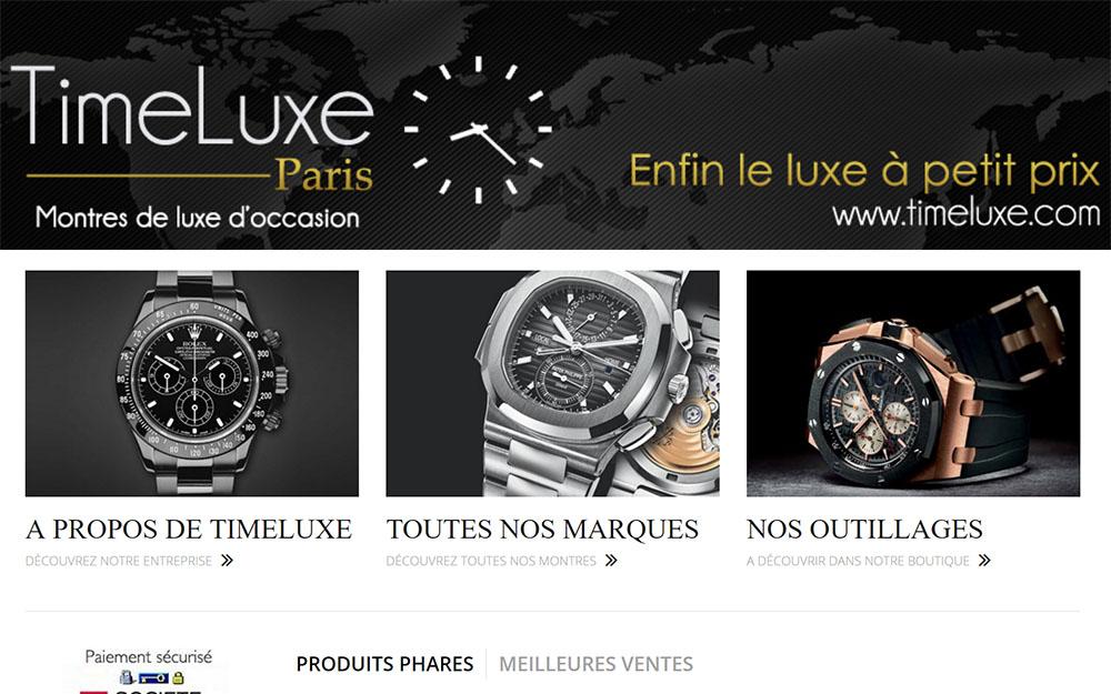 TimeLuxe : Boutique de montres d'occasion en ligne